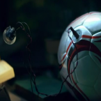 Soccket Inc. created a soccer ball that contains an inductive coil that captures energy when the ball is hit. Fifteen minutes of play provides 3 hours of LED light. Source: Soccket (Pic: American Express/Youtube)