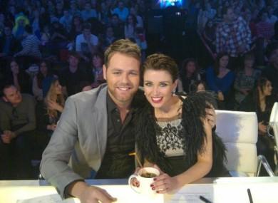 McFadden with AGT fellow judge Dannii Minogue