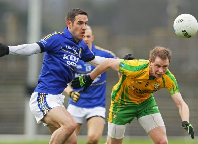 Kerry's Declan O'Sullivan will be in action against Donegal's Anthony Thompson.