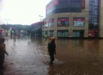 Flooding in the centre of Douglas last Thursday morning