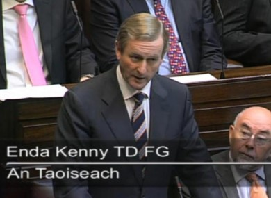 Enda Kenny today
