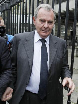 Bankrupt ex-billionaire Sean Quinn leaving the High Court in Dublin last month