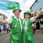 Frank McCaffrey from Cavan and Sheilagh Stevens from Yorkshire in England get into the spirit of things. (Photo: Laura Hutton/Photocall Ireland)