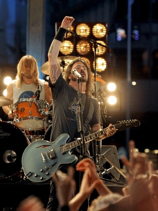 File pic: Foo Fighters perform during the 54th annual Grammy Awards