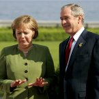 The G8 Summit arrivals at Heiligendamm, Germany, in 2007 got off to this odd start. (AP Photo/Virginia Mayo/PA)
