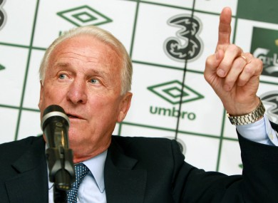 Giovanni Trapattoni: the only way is up.