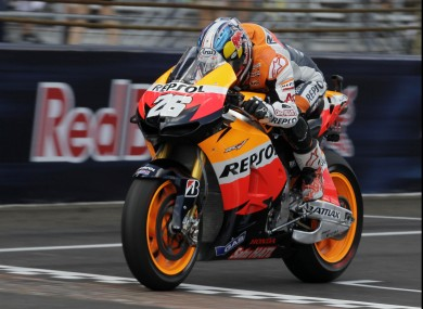 Dani Pedrosa put in a dominant display to claim the win.