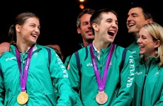 In pictures: Crowds turn out to welcome Irish Olympic heroes despite weather