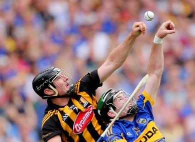 Kilkenny's Kieran Joyce and Brian O'Meara of Tipperary.
