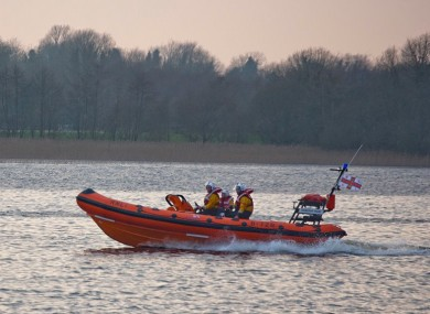 The RNLI Lifeboat on Lough Ree