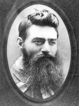 Ned Kelly in a photograph taken the day before he was hanged.