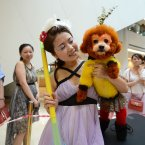 We've been reliably informed that this competitor is dressed as 'the Monkey King'. (Photo by CDSB/Chinafotopress)