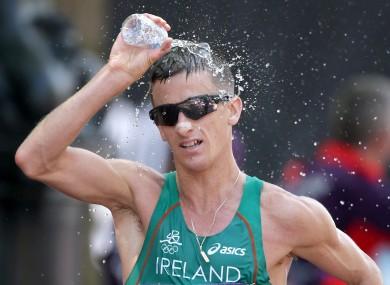 Rob Heffernan finished fourth in the Men's 50km Race Walk.