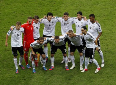 Germany play Argentina later this evening.