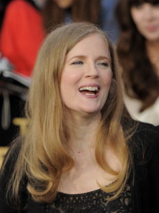 Author Suzanne Collins arrives at the world premiere of