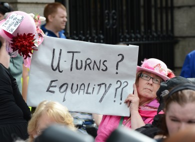 Protesters in Dublin this week