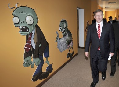 Enda Kenny in PopCap Games's Dublin offices earlier this year.