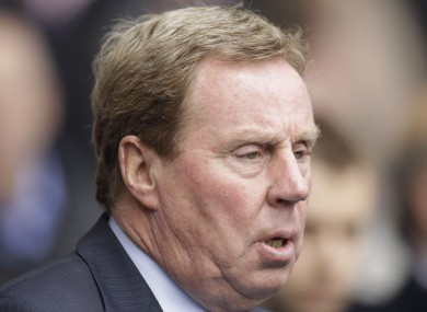 Redknapp was sacked by Tottenham at the end of last season.