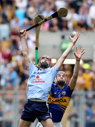 Dublin's Cormac Costello and John McGrath of Tipperary during the drawn game.