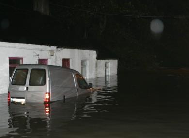 Flooding in the Kilmainham area of Dublin in 2010.
