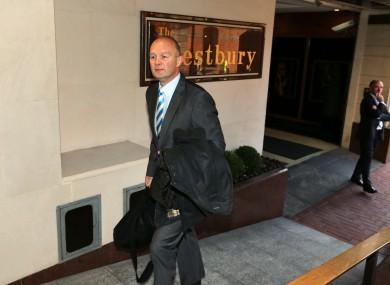 ERC Chief Executive Derek McGrath arrives for today's meeting.