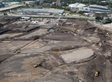 The site where City's Etihad Campus will be built.