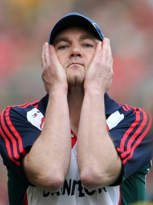 James Horan during the final few moments of yesterday's All-Ireland SFC final.