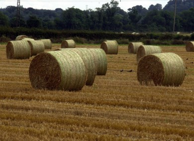 A lorry-load of hay bales caught fire on the M1 this evening. (stock pic)