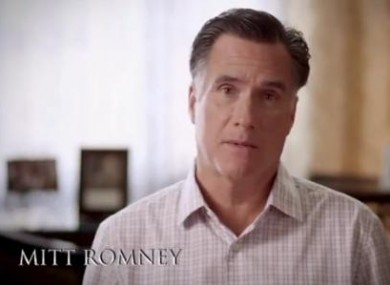 Romney in his new ad campaign