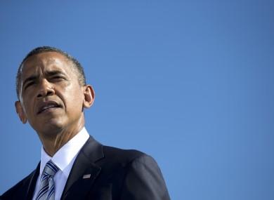 Obama speaks at a Pentagon memorial earlier today