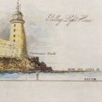 This sketch shows the 'datum' at Poolbeg lighthouse which gave a baseline for Ordnance Survey measurements. Image: Ingenious Ireland.