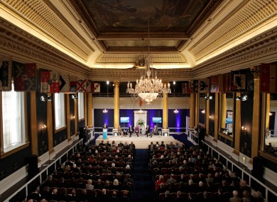 Dublin Castle - seen here during the Global Irish Economic Forum - is set to house the first meeting of the Constitutional Convention next month.