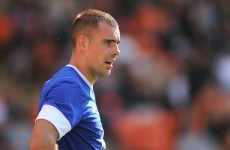 Darron Gibson ruled out for up to three weeks