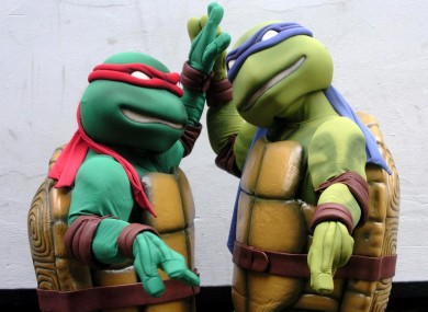 Raphael (left) and Leonardo