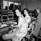 Okay, this is actually an early telephone exchange but we *like* to think that these smiling ladies were the ones always at your service with numbers. And you didn't have to pay a fee to get to them. They didn't text you the number though...(Image: Sport & General/S&G Barratts/EMPICS Archive)