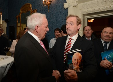 Kenny meets O'Herlihy upon his arrival at the book launch last night.