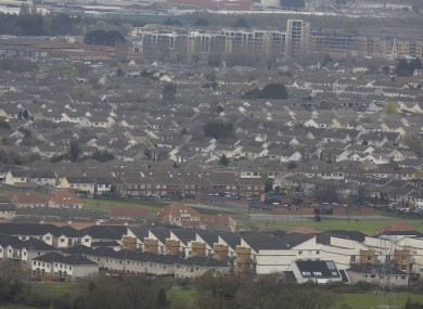 Homes in west Dublin (File photo)