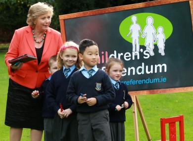 Minister for Children Frances Fitzgerald launching the website for the referendum last week