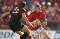 Munster's Denis Hurley drafted into Ireland squad as fullback cover