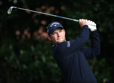 Grace said practising with Louis Oosthuizen during the week helped his performance.