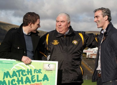 Donegal manager Jim McGuinness, Michaela's widower John McAreavey and Ulster manager Joe Kernan.
