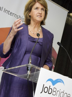 Minister for Social Protection at the launch of JobBridge last year.