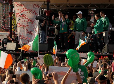 Katie Taylor won the Olympic gold, but she won it FOR IRELAND. So congratulations!