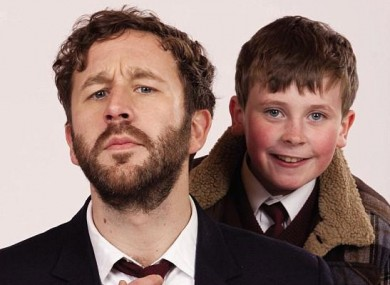 Chris O'Dowd and David Rawle, the stars of Sky 1's 'Moone Boy'.