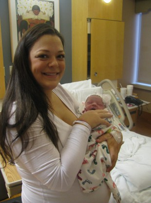 Baby Laila with her mother Katie