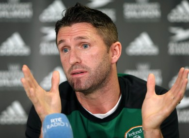 Keane chats to the media today.