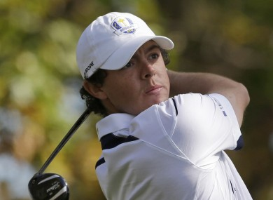 McIlroy has played down the rivalry between himself and Tiger Woods.
