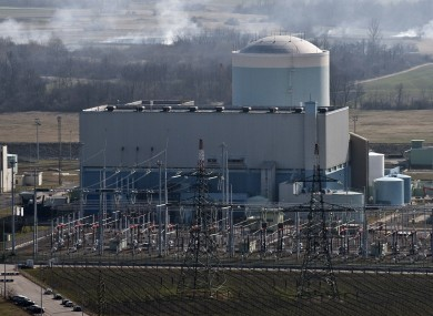 A general view of the Krsko power plant in Slovenia.