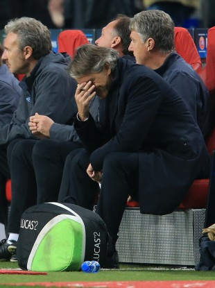 Roberto Mancini after Ajax scored their second.