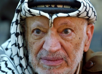 File photo of Palestinian leader Yasser Arafat.